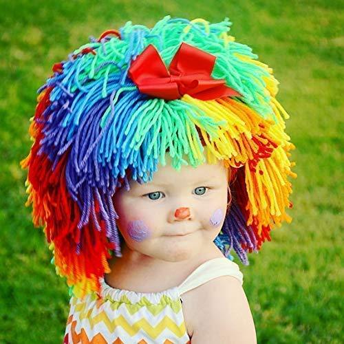 Clown Hat for Kids Yarn Wig Halloween Costume
