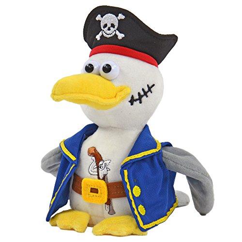 Kögler 75922 - Laber Piraten Möwe Malwin, Labertier mit Aufnahme- und Wiedergabefunktion, plappert alles witzig nach und bewegt sich, ca. 20 cm groß, ideal als Geschenk für Jungen und Mädchen