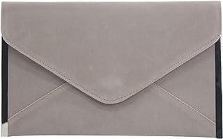 Wiwsi Women Clutch Bag Faux Velvet Envelope Evening Bridal Wedding Prom Handbag
