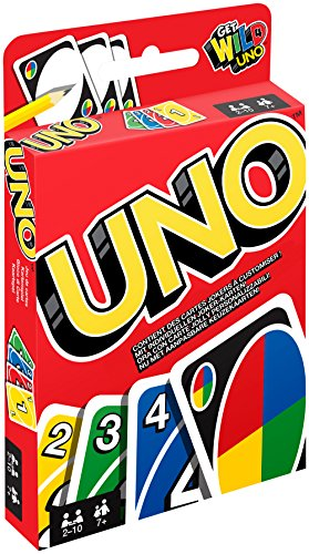 Mattel Games W2087 - UNO Kartenspiel und Gesellschaftspiel, geeignet für 2 - 10 Spieler, Kartenspiele und Gesellschaftsspiele ab 7 Jahren