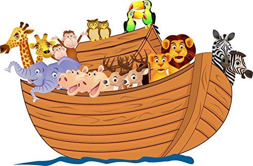 wandmotiv24 Wandsticker Arche Noah mit Tieren S - klein 46x30cm Wand-Aufkleber, Sticker, Schrank-Bild, Wandbild WS00000168