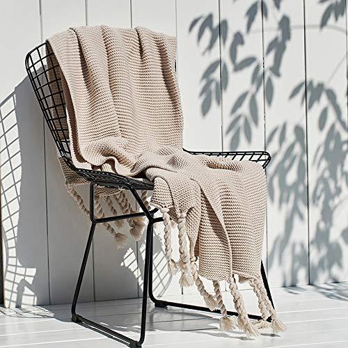 FGDSA Manta de sofá de punto, manta de microfibra superior peinada, para la siesta, para otoño e invierno, manta para sofá, súper cálida, manta para aire acondicionado, manta de punto con borla