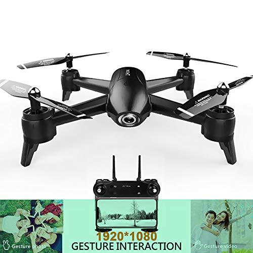 Drone 1080P HD WiFi Doppia Fotocamera Video in Tempo Reale Riprese aeree Drone Quad Elicottero RC Drone Batteria a Lunga Durata Traiettoria Volo Quadricottero Velivolo