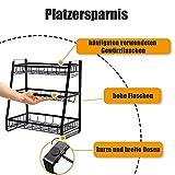 Homease Gewürzregal 3-Etagen Schawarz Gewürz Organizer Regal stehende für Küchen, Aufbewahrung von Verschiedene Größen von Gewürzen, für Arbeitsplatten und Schränke, hoher Kapazität und Tragfähigkeit