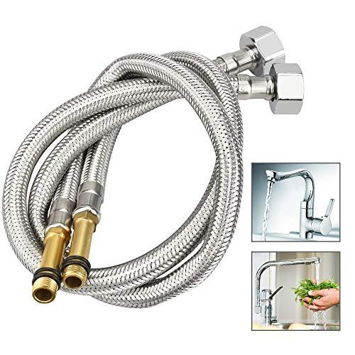 AFASOES 2 Stück Anschlussschlauch Armatur M10 Verbindungsschlauch Wasserzulauf-Schläuche für Mischbatterie