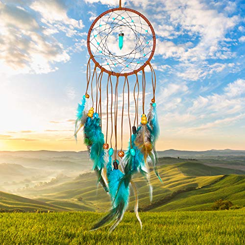 SIKEMAY Dream Catcher - Handmade Exquisite Feather Beaded Dream Catcher for Kids/Cars/Bedroom - Indians Traditional Art Wall Hanging Home Decoration
