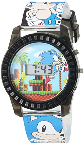 Sonic the Hedgehog Kids' SNC4008 Digital Display Quartz Blue Watch