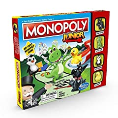 My First Monopoly Game: the classic game for younger players Adorable Junior Tokens: play with classic tokens before they grew up Fun, Kid-Friendly Properties: buy cool properties such as the pet store, the candy store, and the video game arcade Fast...