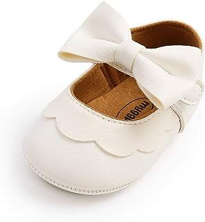 Ortego Chaussure Bbébé Fille Antidérapants Bowknot Princesse Ballerine Bébé