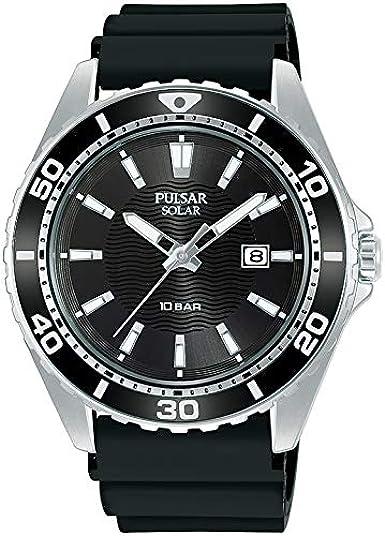 Pulsar - Reloj analógico de Cuarzo para Hombre con Correa de Metal