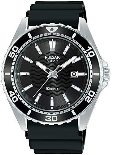Pulsar Reloj Analógico para Hombre de Cuarzo con Correa en Silicona PX3245X1
