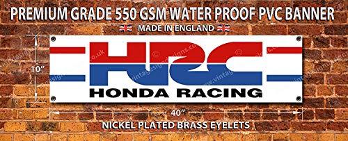 Vintage Sign Designs Hrc Honda Racing Hochwertige PVC Garage Werkstatt Banner