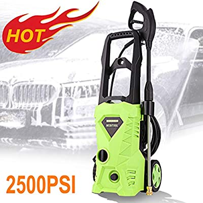 Homdox Electric Pressure Washer, Power Washer with 2500 PSI,1.6GPM, (4) Nozzle Adapter, Longer Cables and Hoses and Detergent Tank,for Cleaning Cars, Houses Driveways, Patios,and More