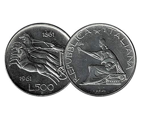 LaVecchiaScatola 1961 Repubblica 500 Lire 'Biga' in Argento 835 (11gr)