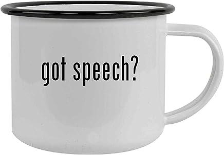 got speech? - 12oz Stainless Steel Camping Mug, Black