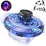 MELOPHY FlyNova Flying Toy, UFO Hand Operated Drone for Kids or Adults, Mini Flying Spinner Hands Free Scoot UFO Drones, Flying Ball Boomerang Toy Gifts for Boys and Girls with LED Lights