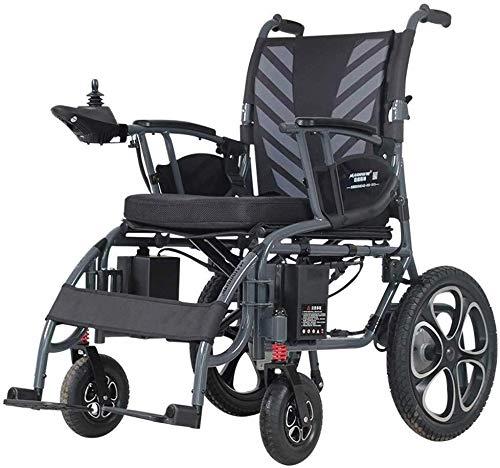 Qianqiusui silla de ruedas ligera eléctrica, plegable bifuncional, la batería de iones de litio polímero con una llanta de rueda de aleación de magnesio, o como una fuente de silla de ruedas de accion