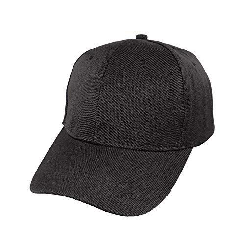 Gorra de Béisbol Ajustable de Estilo Polo Clásico Deportivo Casual de Color Liso Suave y Transpirable Unisex (Negro JDH-101, Talla única)