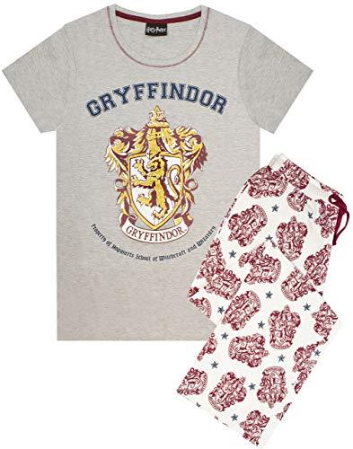 Harry Potter Pyjamas Frauen Gryffindor House Crest Damen Top PJ Set Small