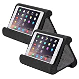 Flippy Jr, Multi-Angle Soft Pillow Lap Stand for Mini iPads, Tablets, eReaders, Smartphones, Books, Great for Kids, 2-Pack (Smokey, Smokey)