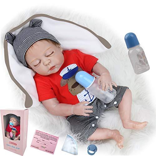 ZIYIUI Muñecas Reborn Niño 50cm 20 Pulgadas Reales Cuerpo Entero Silicona Bebes Reborn niño Realistas Recien Nacidos Hecho a Mano muñeca Reborn Reales Juguetes