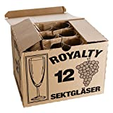 Van Well 12er Set Sektglas Royalty, 0.1L geeicht, Ø 50 mm, H 160 mm, Sektflöte, Kelchglas, Champagner- u. Prosecco-Glas, Partyglas, Gastronomie - 5