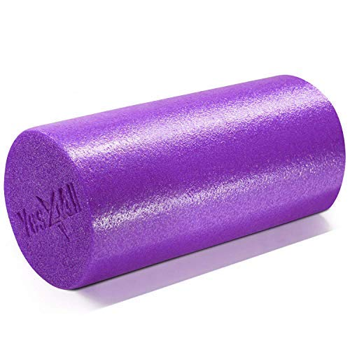 Yes4All Premium USA Medium Density Round PE Foam Roller for Physical Therapy - 12inch (Purple) ZL7L