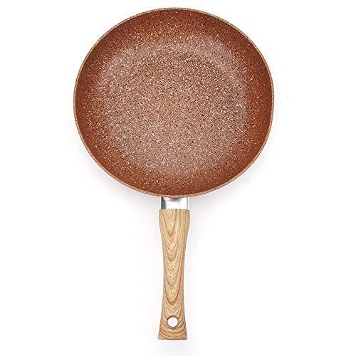 Sartén Con Asa Juegos De Utensilios De Cocina De Aluminio De Sartén Antiadherente Sartén De Acero Inoxidable (Size:24cm; Color:Copper)