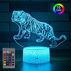 FANTACY LIGHT EFFECT: A flat 2D panel with various color creates amazing 3D optical visual illusion.Tiger light looks fantastic, and makes your room more interesting. You'll feel enjoyable and relaxed with it. PERFECT GIFT: Perfect for displaying in ...