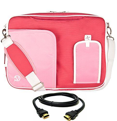 VanGoddy Pink Laptop Messenger Bag for ASUS Transformer Series/ROG/ASUSPRO/ZenBook/VivoBook / 14'- 15.6inch + 8FT HDMI Cable