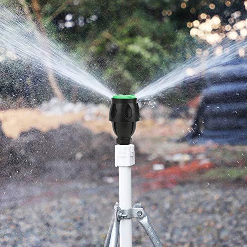 Meiyya Boquilla de Agua para jardín, Boquilla de riego con Conector de Rosca Macho G3 / 4In Dn20, plástico de rotación de 360 Grados para jardín de césped