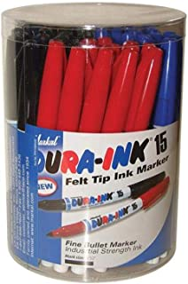Markal - Dura-Ink 15 Fine Tip Marker Mixed Colours (Tub of 48)