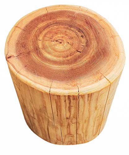 Cedar Natural Log Table or Stool | Stump Style | 16' in Height | Widths Vary