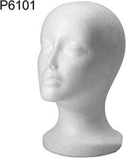 LOadSEcr' Mannequin Head Styrofoam Sunglasses Eyeglass Stand Hat Cap Holder Head Model for Making Wig Display Styling - 1