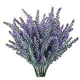 YGSAT 4 Flores Artificiales|Lavanda Artificial |Flores Artificiales de Lavanda|5 Cabezas de Flores Artificiales|Ramo de Flores Artificiales Para Decoración de Casa|Jardín|Fiesta|Boda|Color Morado