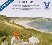 Violin Con Hungarian Dances Chamber M by J. Brahms