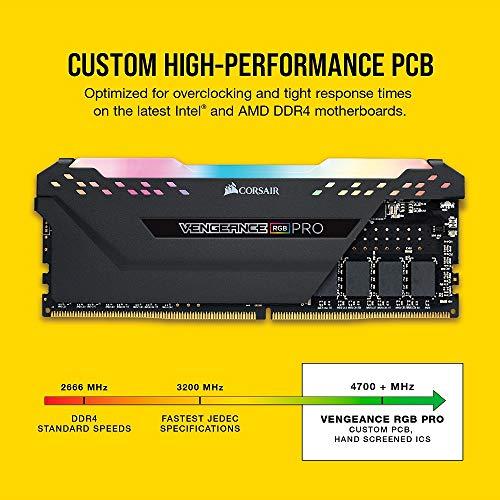 Corsair Vengeance RGB Pro 32GB (2x16GB) DDR4 3200 (PC4-25600) C16 Desktop Memory - Black