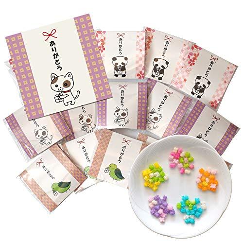 プチギフト 金平糖 ありがとう お菓子 15袋セット ギフト包装済 結婚式 こんぺいとう 個包装