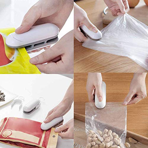 Portable Mini Sealing Machine,Handheld Heat Bag Sealer,Quick Seal for Plastic Bags Food Storage Snack Fresh Bag Sealer (Battery Not Included)