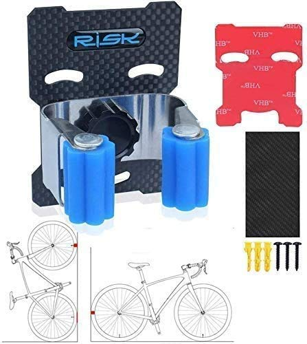 Fahrrad-Park-Schnalle, robuster Edelstahl, Fahrrad-Aufbewahrung, vertikal, Mountainbike, Rennrad, Wandhalterung, Clip (1)