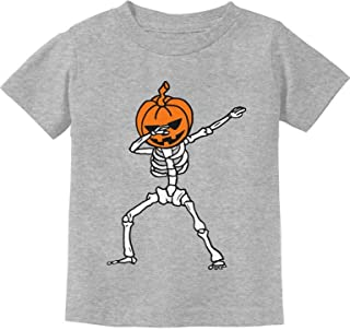 Jack O' Lantern Dabbing Pumpkin Halloween Dab Skeleton Toddler Kids T-Shirt