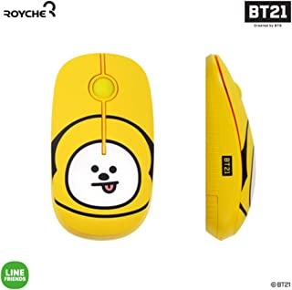BT21 Figure Wireless Silent Mouse by Royche (Yellow(Chimmy))