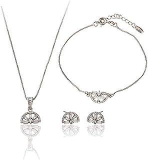 Charles Delon Women Cubic Zirconia Pendant, Bracelet, Earrings Bijoux