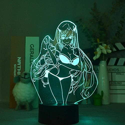 Luz de noche 3D Sexy Girls Lámpara Figura Lámpara de anime para dormitorio Decro Cambio de color Control remoto Manga Estimado regalo en el Franxx -16 colores
