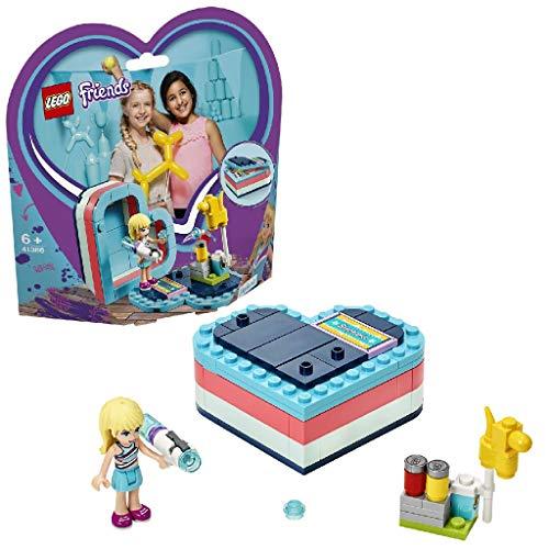 LEGO Friends - Caja Corazón de Verano de Stephanie, Juguete con Mini Muñeca Creativo de Colores para Construir para Niñas y Niños de 6 Años o más (41386)