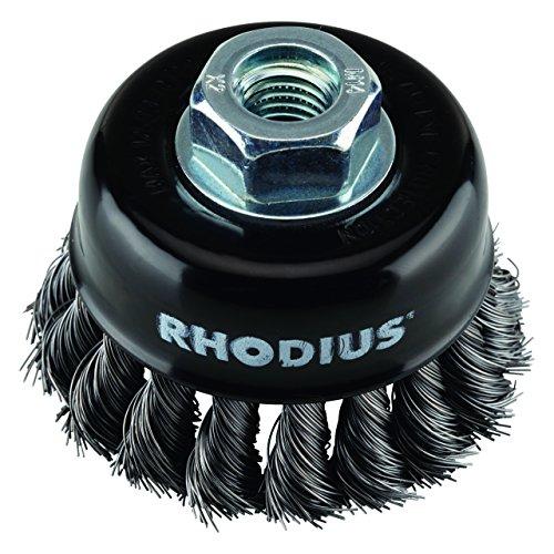 RHODIUS Topfbürsten STBZ gezopft Ø 65 mm für Winkelschleifer EN 1083-2 Kegelbürste Rundbürste Zopfbürste 2 Stück