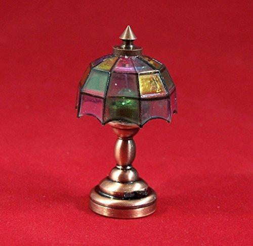 Unbekannt Creal 2214 Lampe de Table LED avec Batterie Laiton 1:12 pour Maison de Poupée