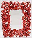 Cornice Portafoto da Tavolo Linea Corallo Verde/Rosso Ceramica Handmade Le Ceramiche del Castello Nina Palomba 100% Made in Italy
