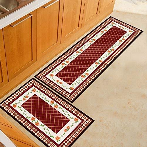 OPLJ Alfombras de Cocina Alfombras de Piso Tatami Alfombras de Cocina Impermeables a Prueba de Aceite Alfombras de Piso Grandes Felpudos Dormitorio A17 50x160cm