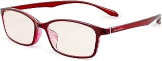 エッシェンバッハ 老眼鏡 ブルーライトカット 中近両用 +3.0 +2.0 度数 PCビュアー 弾性フレーム 日本製 クリアレッド 2993-1230